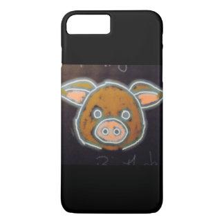 Cerdo de neón funda iPhone 7 plus