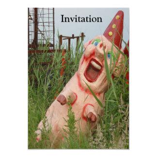 Cerdo de risa invitación 12,7 x 17,8 cm