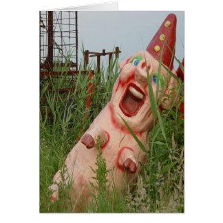 Cerdo de risa felicitacion