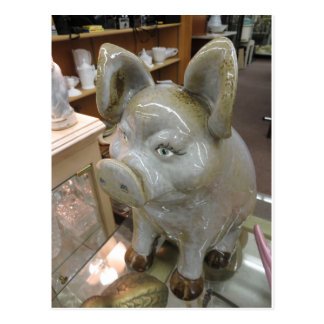 Cerdo decorativo postal