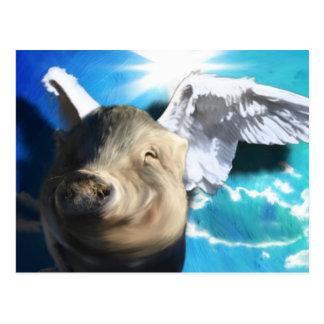Cerdo del ángel postal