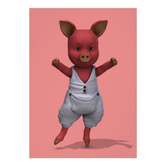 Cerdo del baile del En Pointe Póster