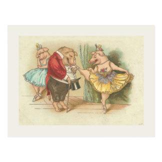 Cerdo del ballet postal