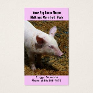 Cerdo del bebé para el cultivo del cerdo tarjeta de visita
