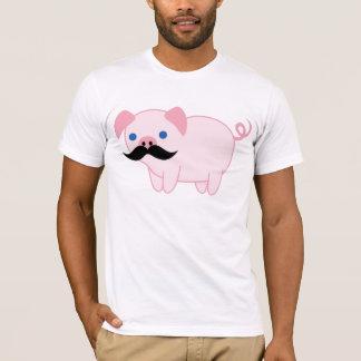 Cerdo del bigote camiseta