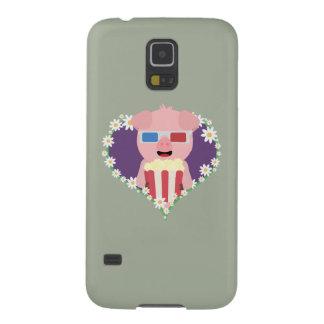 Cerdo del cine con el corazón Zvf1w de la flor Carcasa Galaxy S5
