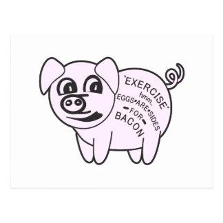 Cerdo del ejercicio tarjetas postales