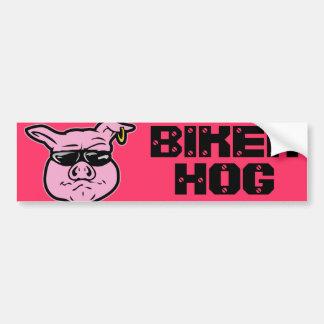 Cerdo del motorista pegatina para coche