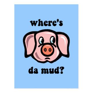 Cerdo divertido postal