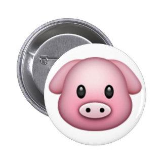 Cerdo Emoji Chapa Redonda De 5 Cm