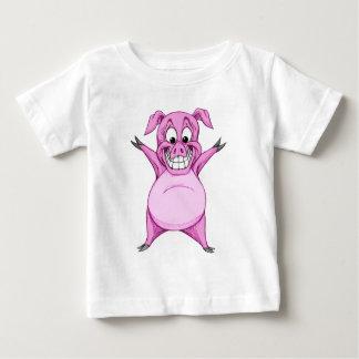 Cerdo feliz camiseta de bebé