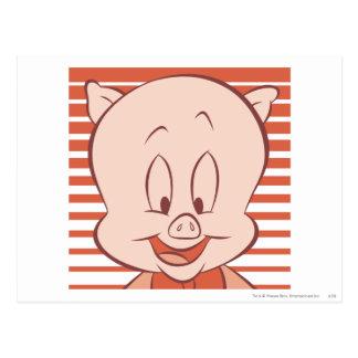 Cerdo gordinflón 23 expresivos postal