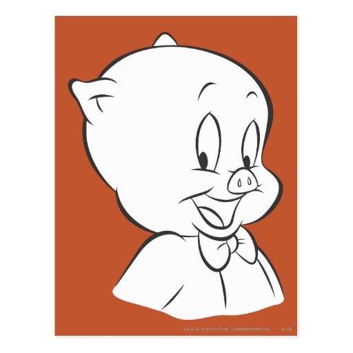 Cerdo gordinflón 4 expresivos expresivos postal