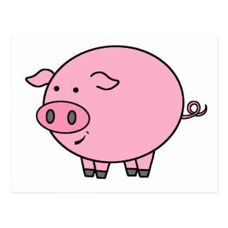 Cerdo gordo postal