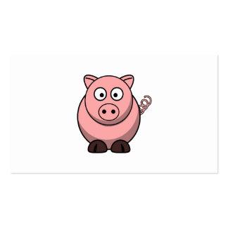 Cerdo lindo del dibujo animado plantillas de tarjetas de visita