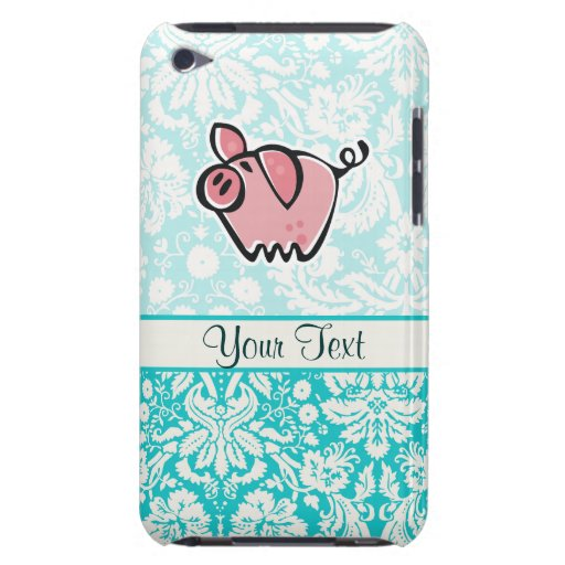Cerdo; Lindo Barely There iPod Protectores