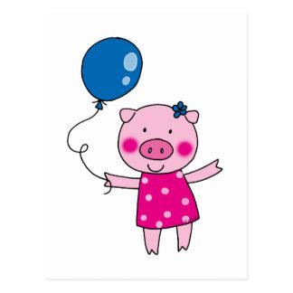 Cerdo lindo postal