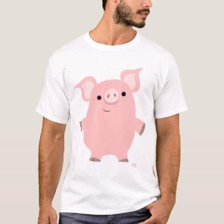 Cerdo que se levanta la camiseta (diseño en