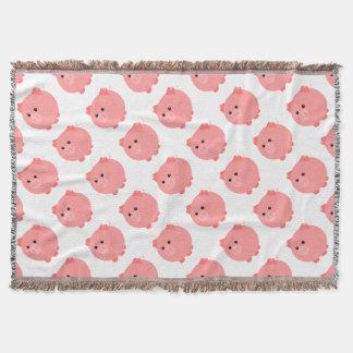 Cerdo rechoncho lindo manta