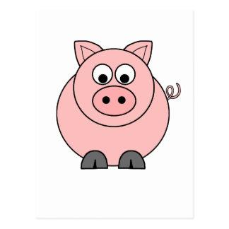 Cerdo rosado gordo postal