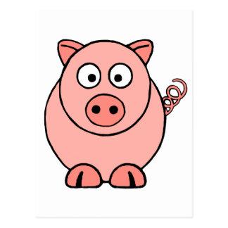 Cerdo rosado postal