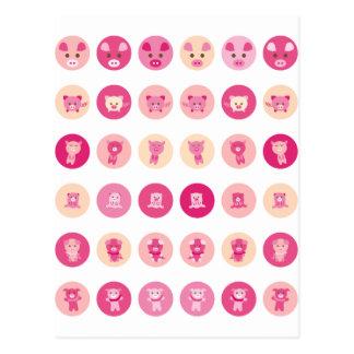 Cerdo rosado todo postal