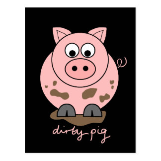 Cerdo sucio postal