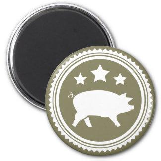 Cerdo y estrellas imán