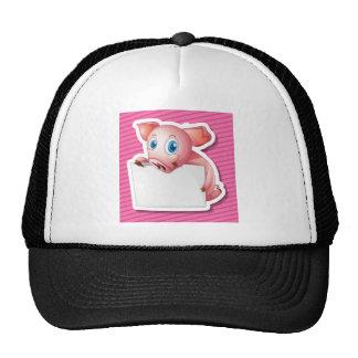 Cerdo y papel gorras de camionero