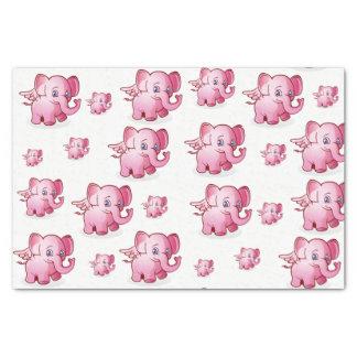 Cerdos decorativos del rosa del papel seda