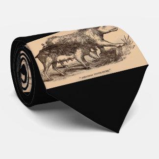Cerdos del siglo XIX del estampado de animales de Corbata