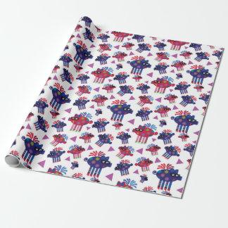 Cerdos del vuelo papel de regalo