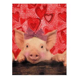 Cerdos lindos de la tarjeta del día de San