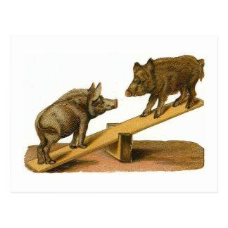 Cerdos principales del extremo postal