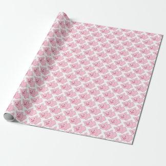 Cerdos rosados papel de regalo