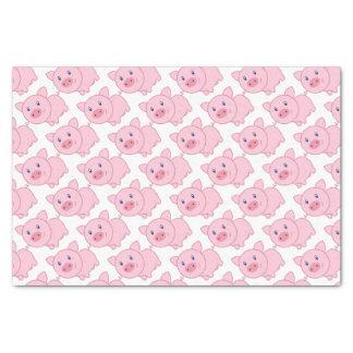 Cerdos rosados papel de seda