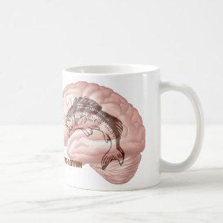 Cerebro de los pescados taza de café