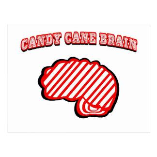 Cerebro del bastón de caramelo postal