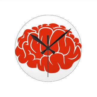 Cerebro del empollón reloj redondo mediano