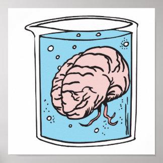 cerebro en un tarro póster