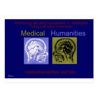 Cerebro médico de la humanidad tarjeta postal