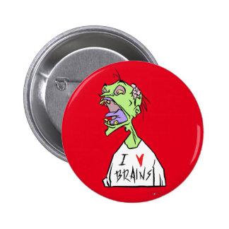 ¡Cerebros! Chapa Redonda De 5 Cm