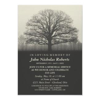 Ceremonia conmemorativa de la silueta del árbol invitación 12,7 x 17,8 cm