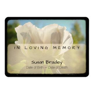 Ceremonia conmemorativa fúnebre 2 del vintage del invitación 12,7 x 17,8 cm