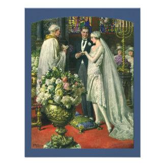 Ceremonia de boda de la iglesia del vintage; Novia Comunicado