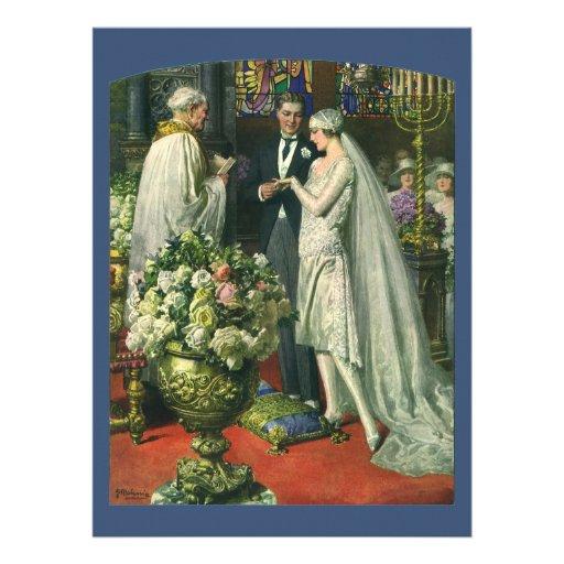 Ceremonia de boda de la iglesia del vintage; Novia Comunicados Personales