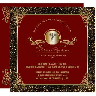 Ceremonia de fijación de la fiesta de graduación invitación 13,3 cm x 13,3cm