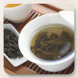 Ceremonia de té del chino tradicional: té del oolo posavaso