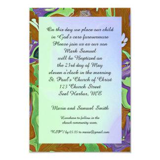 ceremonia del bautismo invitación 8,9 x 12,7 cm