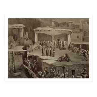 Ceremonia fúnebre en las ruinas en Akhaltchi, Postal